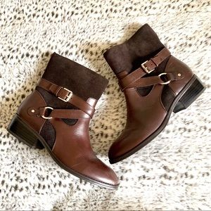 LAUREN Ralph Lauren ankle boots. Leather and Suede